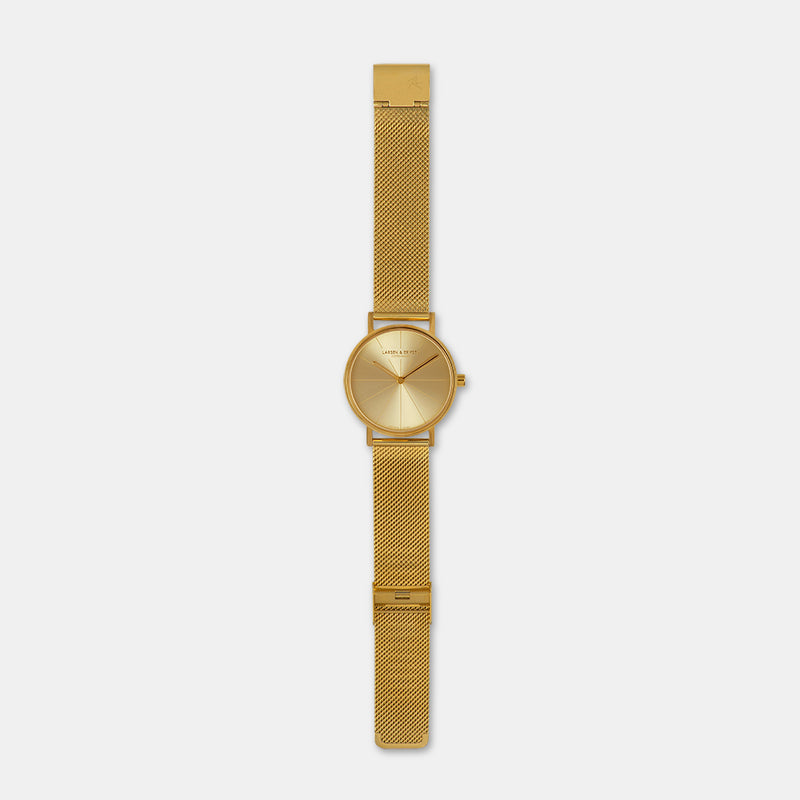 LARSEN&ERIKSEN Absalon all gold watch with metal gold strap