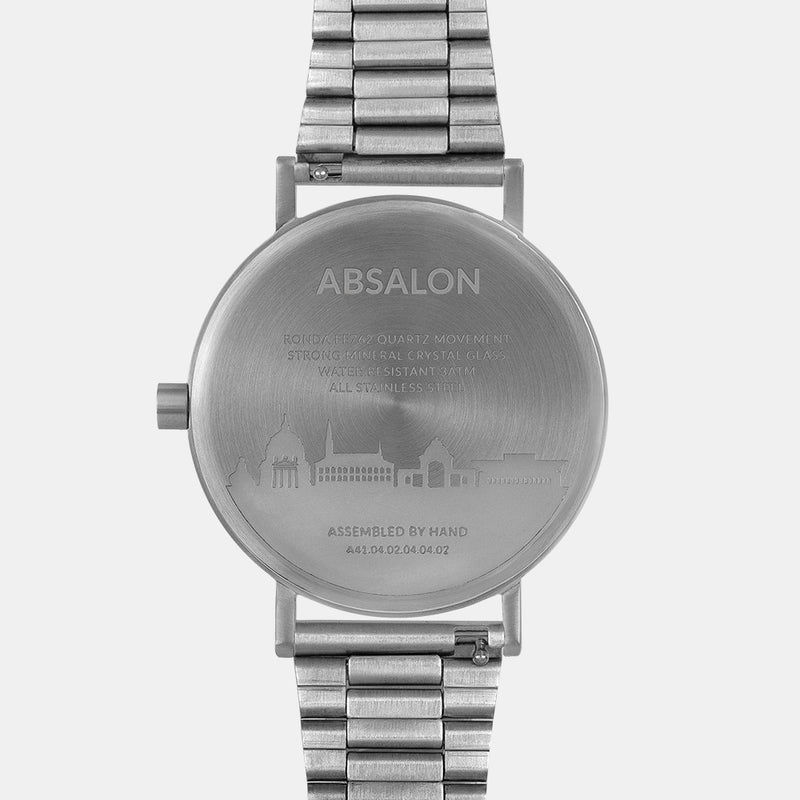 LARSEN&ERIKSEN Absalon all silver watch with metal silver strap