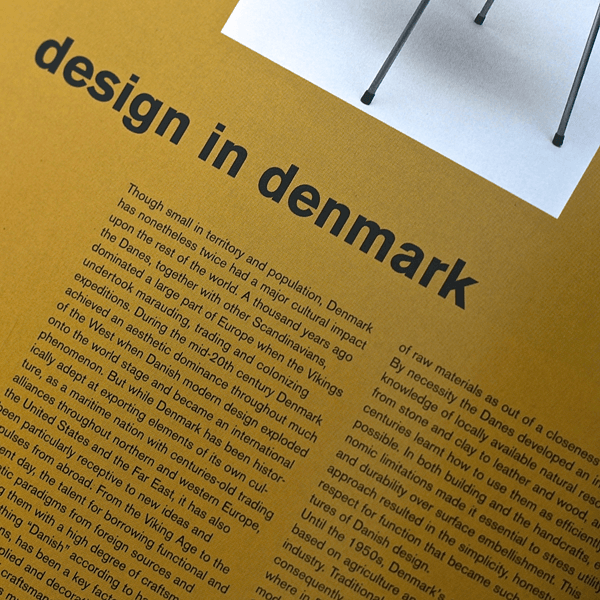 Coffee Table Book - Scandinavian Design. Inner page 1 | LARSEN & ERIKSEN