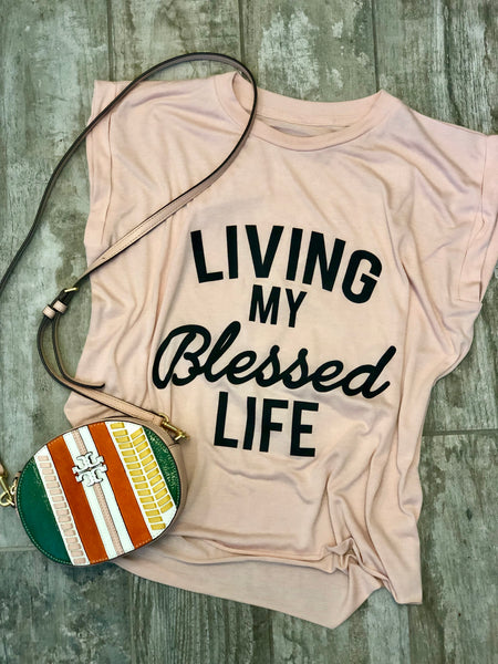 Blessed Life Flowy Muscle T - Fit Darlings Christian Tshirts