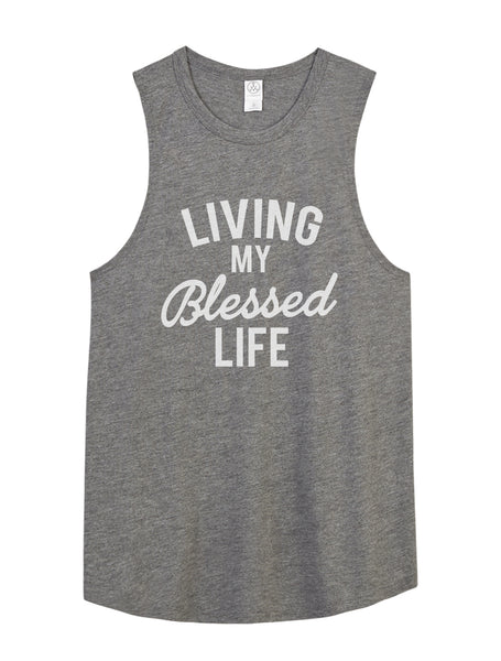 Blessed Life Muscle Tank - Fit Darlings Christian Tshirts
