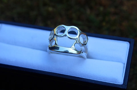 Silver Knuckle Duster Ring