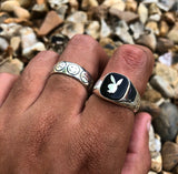 Silver Playboy Ring