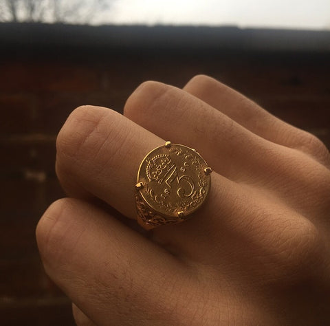 3 Pence Coin Ring