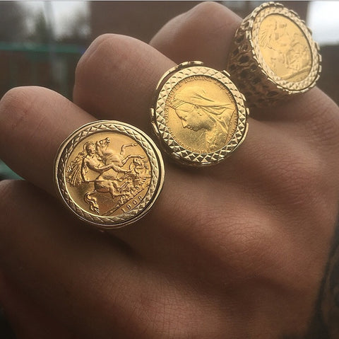 Half Sovereign Ring Queen Victoria Goldtaste