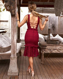 CORDELIA DRESS - RED