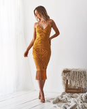 KHALEESI DRESS - MUSTARD