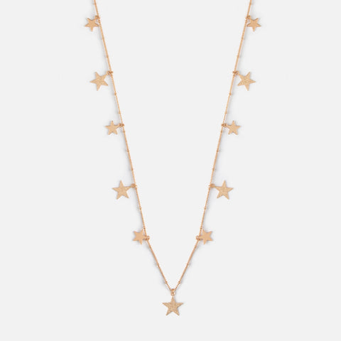 FALLING STAR LONG DROP NECKLACE - GOLD