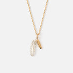 DOUBLE FEATHER DITSY NECKLACE