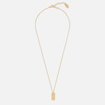 CLEAN TAG CHARM NECKLACE - GOLD
