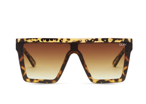 QUAY X JLO HINDSIGHT - Tort Gold / Brown Lens