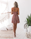 SASSY DRESS - EMBROIDERY ROSE