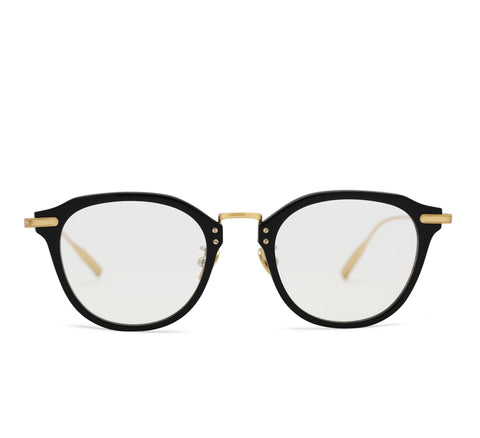 ALTAIR - 18K Gold - Optical Black Acetate Frame in Optical Lens