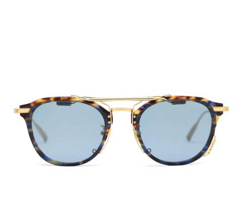 ALTAIR - 18K Gold Blue Tort Frame in Polarized Blue Lens