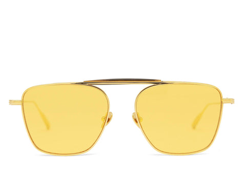 BENJAMIN - 18K Gold Aerospace Titanium Frame with Yellow Jelly Lens