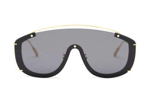 JANE FRANCES - 18K Gold Aerospace Titanium Frame in Tinted Grey Lens