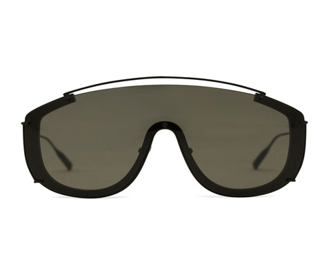 JANE FRANCES - Matte Black Aerospace Titanium Frame in Tinted Grey Lens