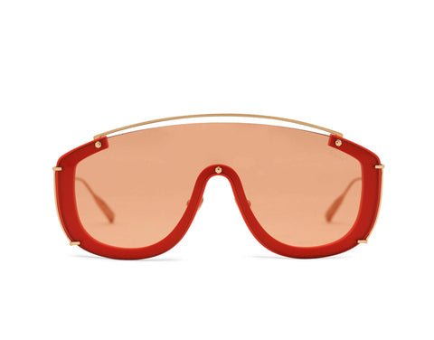 JANE FRANCES - Rose Gold Aerospace Titanium Frame in Tinted Coral Lens