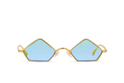 PIAGO - 18K Gold Handcrafted Gold Frame with Blue Jelly Lens