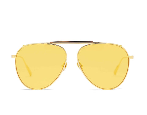 PHILIP - 18K Gold Aerospace Titanium Frame in Yellow Jelly Lens