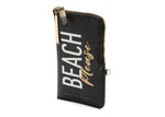 Copia del PRINT ZIP CASE - Beach / Gold