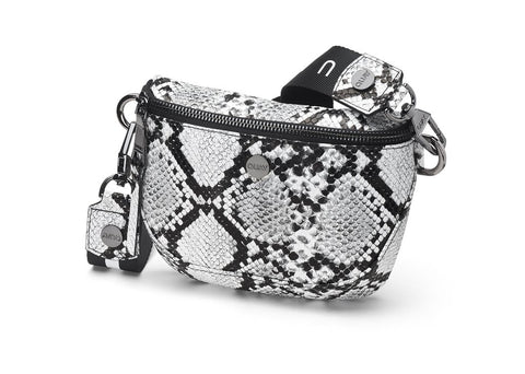 BUM BAG - White / Black Gun