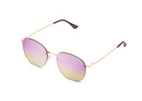Jezabell Rimless - Rose / Purple Pink Yellow Mirror
