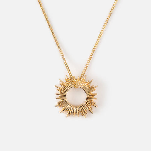 OPEN SUNBURST SHORT NECKLACE
