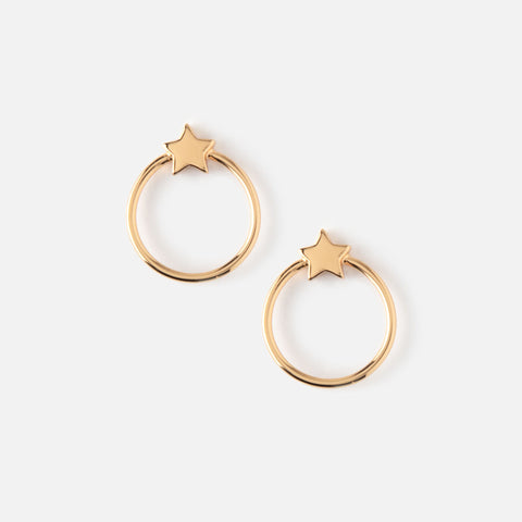 FRONT FACING METAL STAR HOOPS