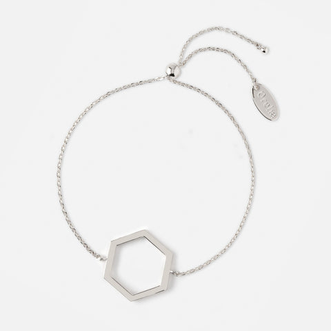 OPEN HEXAGON CHAIN BRACELET