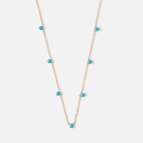SEMI PRECIOUS FINE BLUE DROP NECKLACE