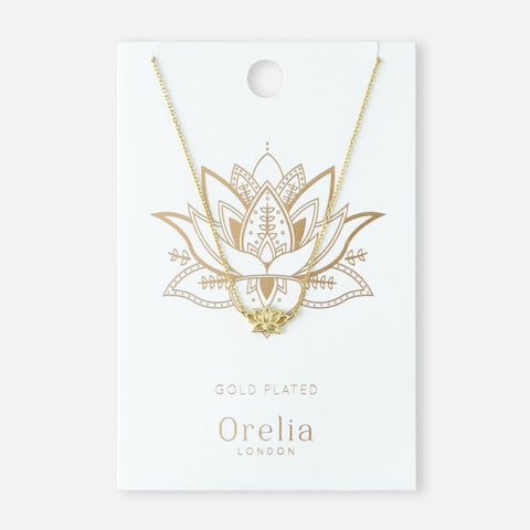 SPIRITUAL LOTUS NL SUBRANGE NECKLACE - GOLD