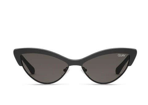 Quay Australia Sunglasses All Night - Black / Smoke Lens