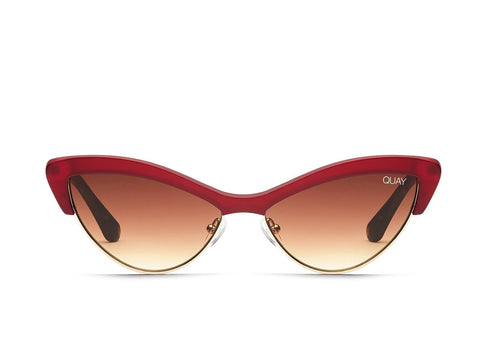 Quay Australia Sunglasses All Night - Red / Brown Lens