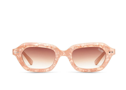 Quay Australia Sunglasses Anything Goes - Peach Pearl / Brown Lens