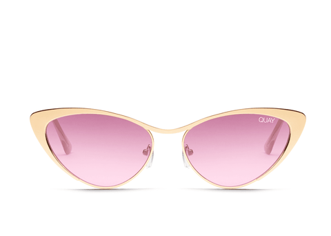 Quay Australia Sunglasses Boss - Gold / Purple Lens