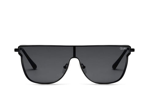 Quay Australia Sunglasses Can You Not - Black / Smoke Lens