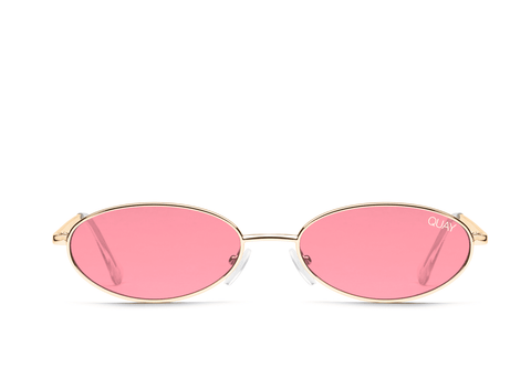 Quay Australia Sunglasses Clout - Gold / Red Lens