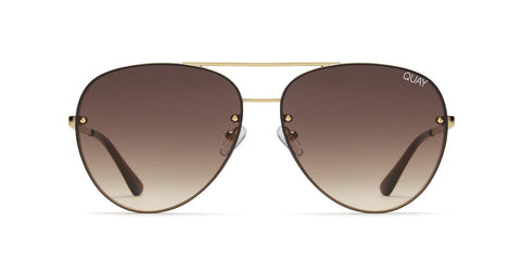 Quay Australia Sunglasses Cool Innit - Gold / Brown