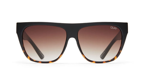 Quay Australia Sunglasses Drama by Day - Black to Tort Fade / Brown Lens