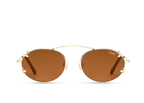 Quay Australia Sunglasses Final Stand Cherries - Gold / Brown Lens
