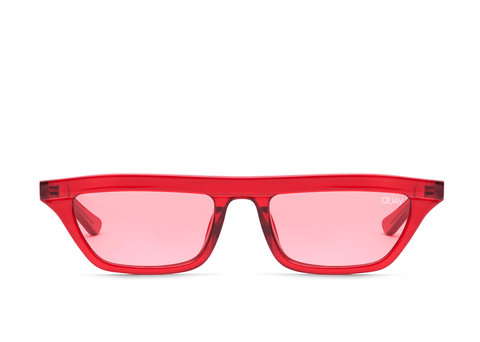 Quay Australia Sunglasses Finesse - Red / Red Lens