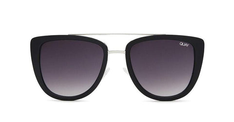 Quay Australia Sunglasses French Kiss - Black / Smoke
