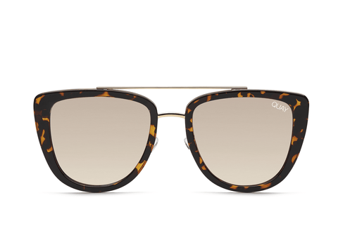 Quay Australia Sunglasses French Kiss - Tort / Gold Mirror