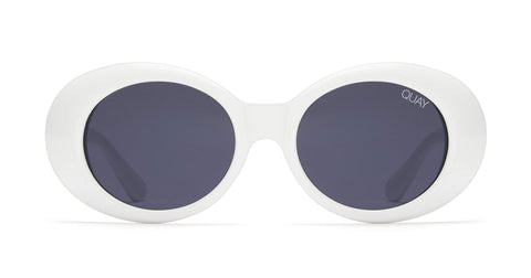 Quay Australia Sunglasses Frivolous - White / Smoke
