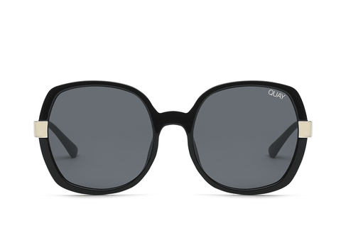Quay Australia Sunglasses Gold Dust - Black / Smoke Lens