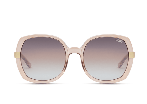 Quay Australia Sunglasses Gold Dust - Champagne / Brown Fade Lens