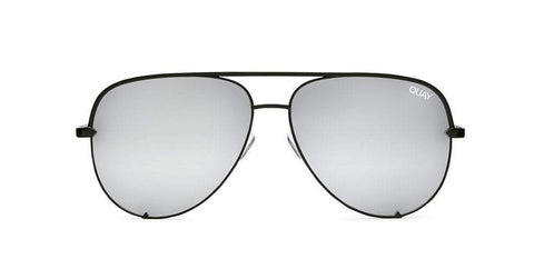 Quay Australia Sunglasses High Key - Black / Silver