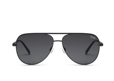 Quay Australia Sunglasses High Key - Black / Smoke Lens