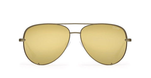 Quay Australia Sunglasses High Key - Green / Gold